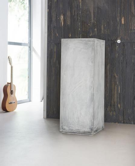 Tall scandi industrial polished concrete pillar table. elderflower lane treniq 1 1508351607824
