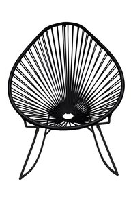Junior Acapulco Rocker Chair - Black Weave On Black Frame