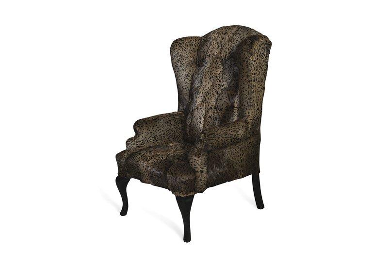 Leopard brown armchair cravt original treniq 1
