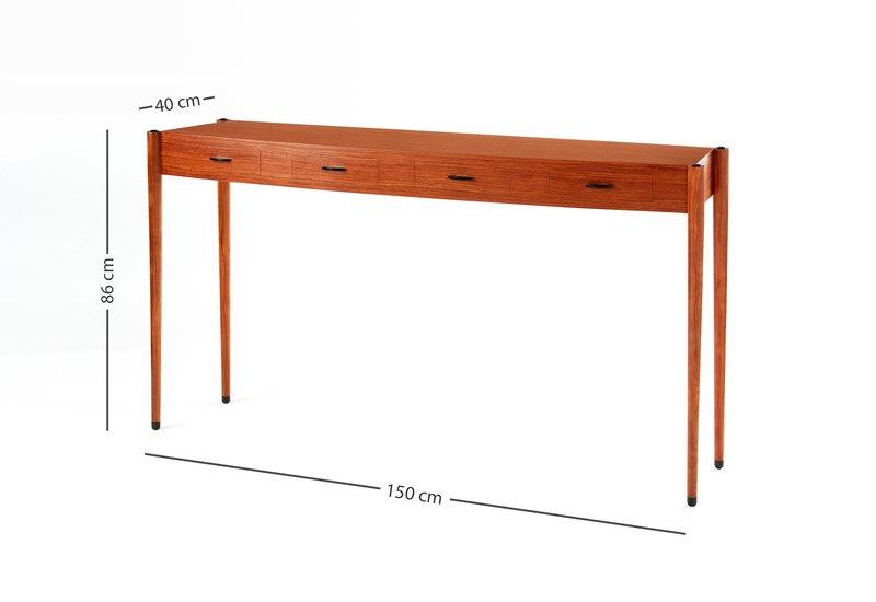 Bubinga console table philip dobbins 5