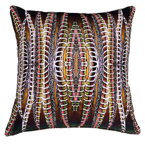 Orange breasted trogon velvet cushion anjali hood ltd. treniq 1 1509512046644