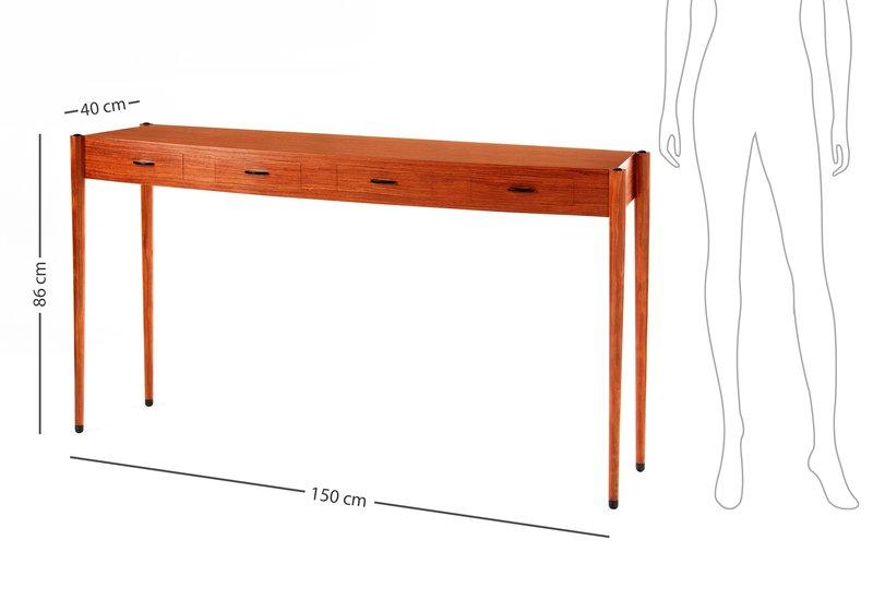 Bubinga console table philip dobbins 6