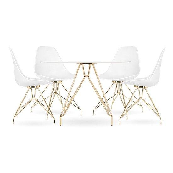 Moda cd1 dining set  1 round table   4 chairs  white 110cm cult furniture treniq 1 1510329952449