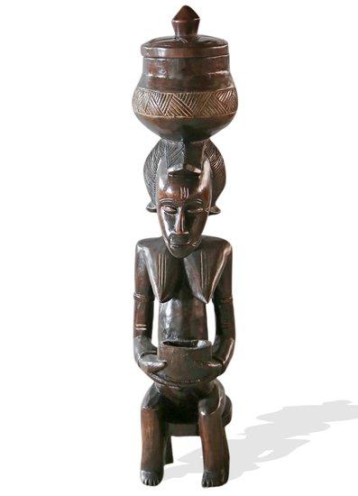 Baule female statuette peau avana africa treniq 1 1510427706337