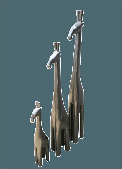 Metallic tall giraffe   steel grey avana africa treniq 1 1510573710405
