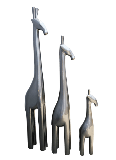 Metallic tall giraffe   steel grey avana africa treniq 1 1510573710374