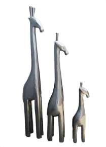 Metallic-Tall-Giraffe-Steel-Grey_Avana-Africa_Treniq_0
