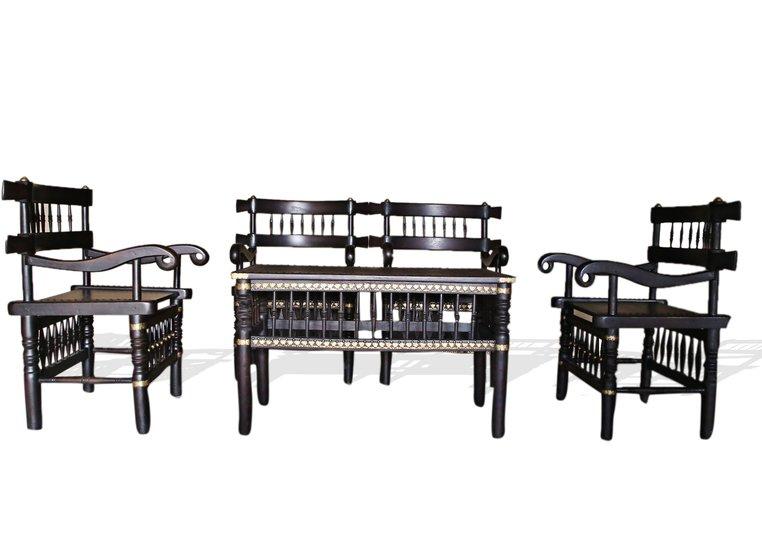 Traditional malinka set of 4 chairs and 1 table avana africa treniq 1 1511262905105