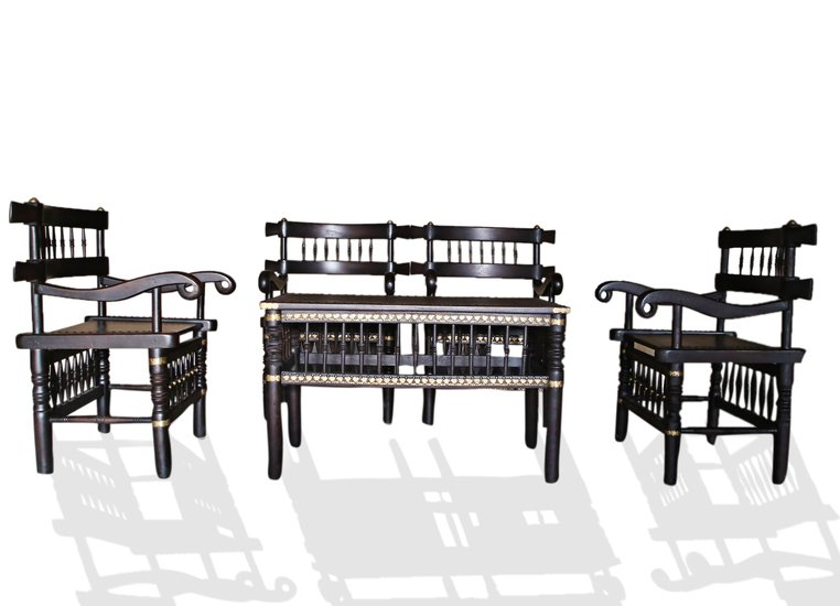 Traditional malinka set of 4 chairs and 1 table avana africa treniq 1 1511262905107