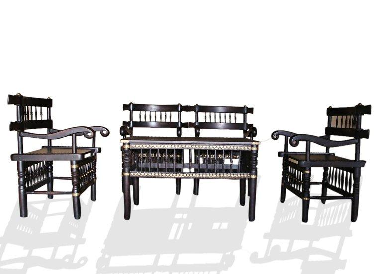 Traditional malinka set of 4 chairs and 1 table avana africa treniq 1 1511262905121