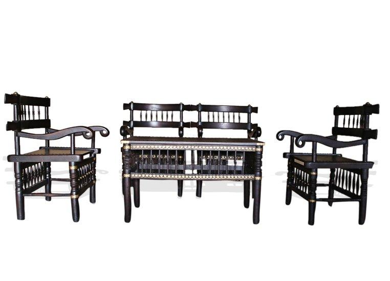 Traditional malinka set of 4 chairs and 1 table avana africa treniq 1 1511262905117
