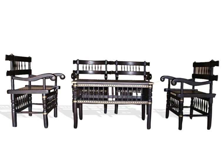 Traditional malinka set of 4 chairs and 1 table avana africa treniq 1 1511262905130