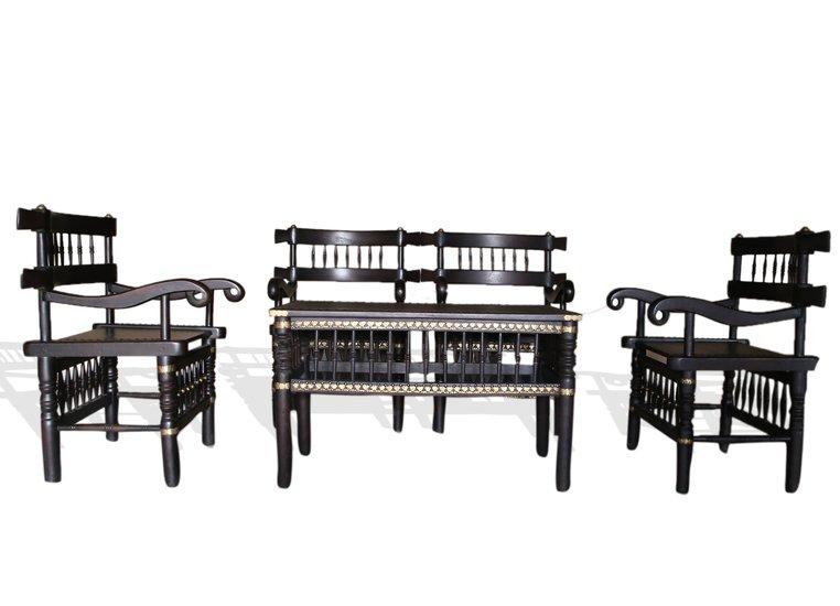 Traditional malinka set of 4 chairs and 1 table avana africa treniq 1 1511262905103