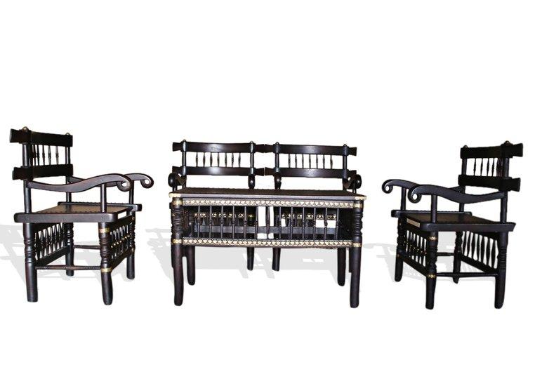 Traditional malinka set of 4 chairs and 1 table avana africa treniq 1 1511262905110