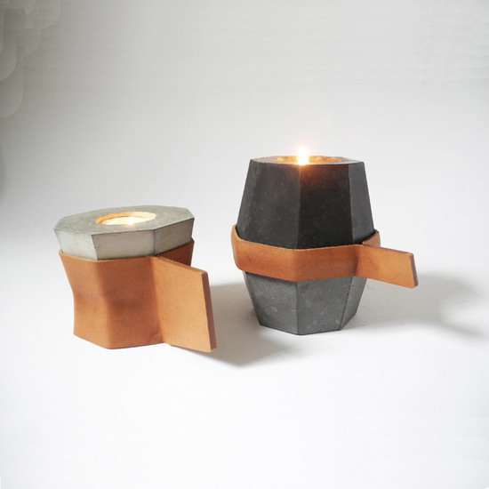 Stacking candles  set of 3 with 2 leather handles imbyou treniq 1 1511386845930
