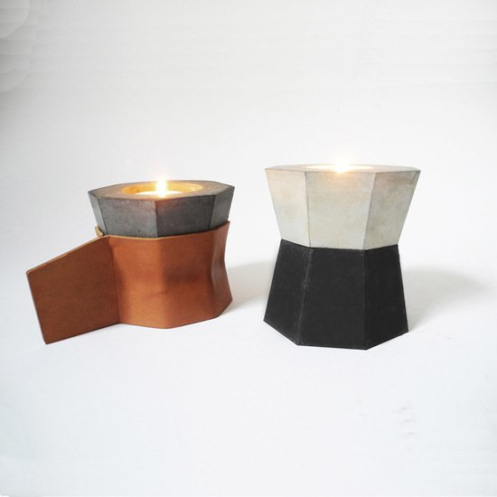 Stacking candles  set of 3 with 2 leather handles imbyou treniq 1 1511386853198