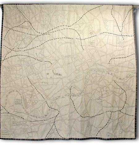 Embroidered map of london textile art imbyou treniq 1 1511388588274
