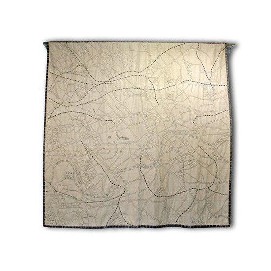 Embroidered map of london textile art imbyou treniq 1 1511388595840