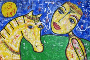 The-Yellow-Horse_Annetje-Van-Der-Sluis-Art_Treniq_0