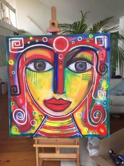Khaleesi painting annetje van der sluis art treniq 1 1512056703386