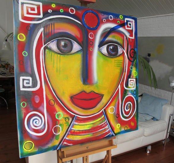 Khaleesi painting annetje van der sluis art treniq 1 1512056703389