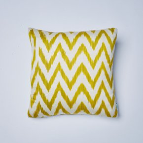 Celery-Frankie-Ikat-Cushion_Nomad-Design_Treniq_0