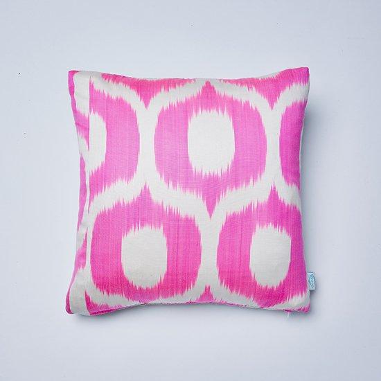Neon pink jemima ikat cushion nomad design treniq 1 1512496031946