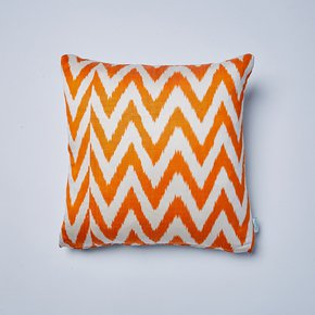 Orange-Frankie-Ikat-Cushion_Nomad-Design_Treniq_0