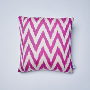 Raspberry-Frankie-Ikat-Cushion_Nomad-Design_Treniq_0