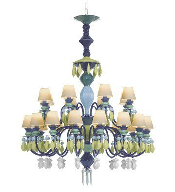 Belle de nuit 24 lights green lladro treniq 1 1512560749083