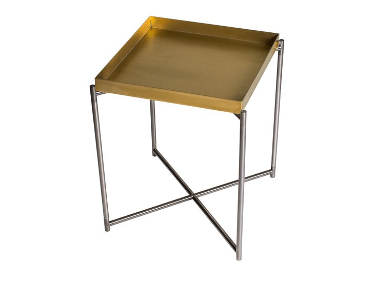 Iris square tray top side table brass top with gun metal frame gillmorespace limited treniq 1 1513169483998