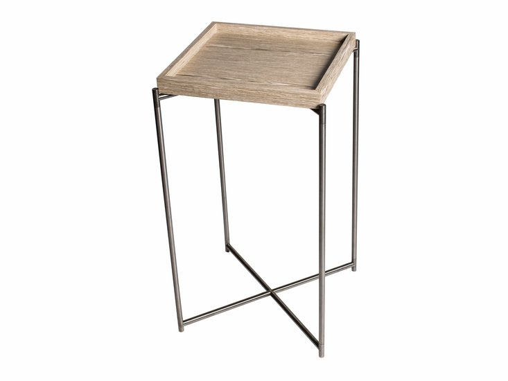 Iris square plant stand weathered oak tray with gunmetal frame gillmorespace limited treniq 1 1513170242243