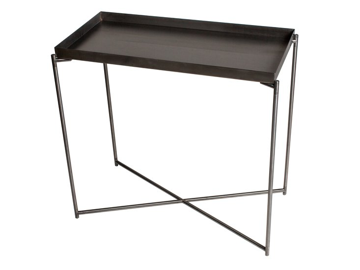 Iris small console table tray top gun metal top with gun metal frame gillmorespace limited treniq 1 1513171564236