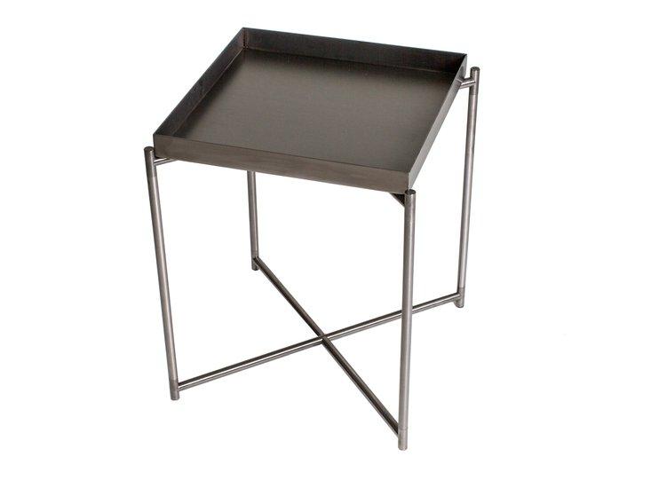 Iris square tray top side table gun metal top with gun metal frame gillmorespace limited treniq 1 1513171818100