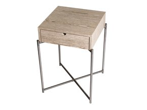 Iris-Square-Side-Table-With-Drawer-Weathered-Oak-With-Gun-Metal-Frame_Gillmore-Space-Limited_Treniq_0