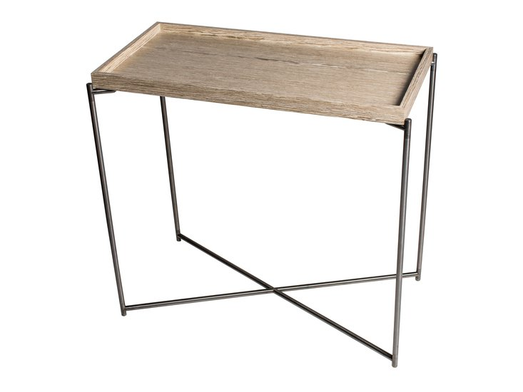 Iris small console table tray top weathered oak with gun metal frame gillmorespace limited treniq 1 1513172421175