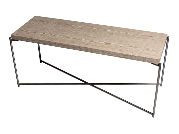 Iris large low console table weathered oak with gun metal frame gillmorespace limited treniq 1 1513172744156