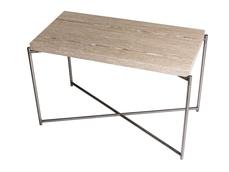Iris rectangle side table weathered oak with gun metal frame gillmorespace limited treniq 1 1513172888115