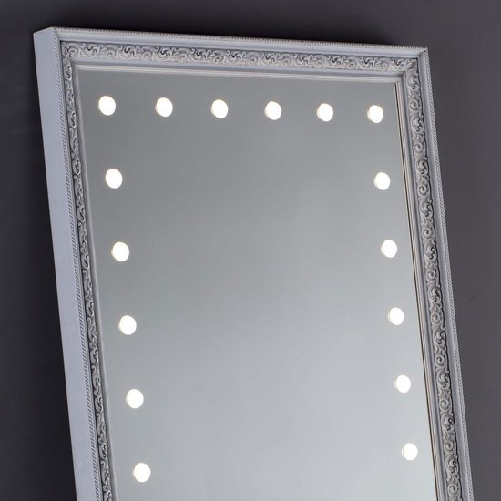 Lighted mirror mf388a white veneer grey* chiara ferrari treniq 1 1513268519356