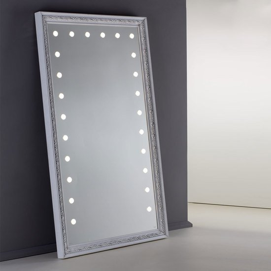 Lighted mirror mf388a white veneer grey* chiara ferrari treniq 1 1513268519354