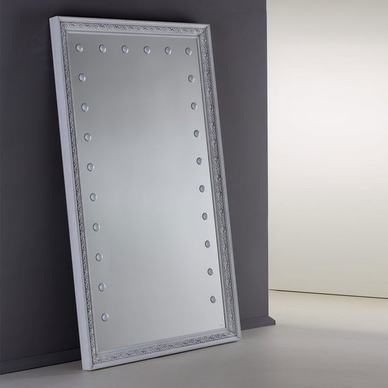 Lighted mirror mf388a white veneer grey* chiara ferrari treniq 1 1513268519355