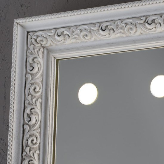 Lighted mirror mf388a white veneer grey* chiara ferrari treniq 1 1513268519358
