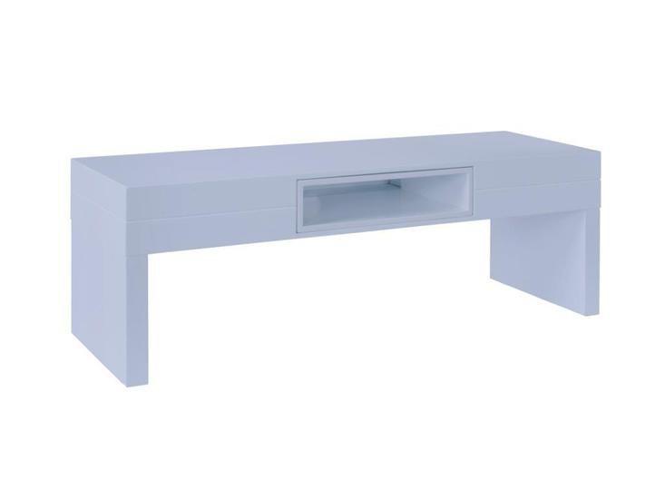 Phenomenal Savoye White With White Accent Low Console Table Inzonedesignstudio Interior Chair Design Inzonedesignstudiocom