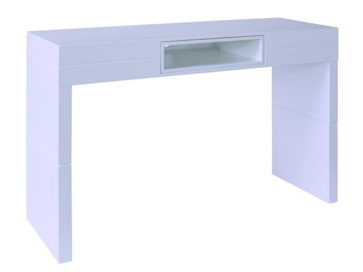 Terrific Savoye White With White Accent High Console Table Gmtry Best Dining Table And Chair Ideas Images Gmtryco
