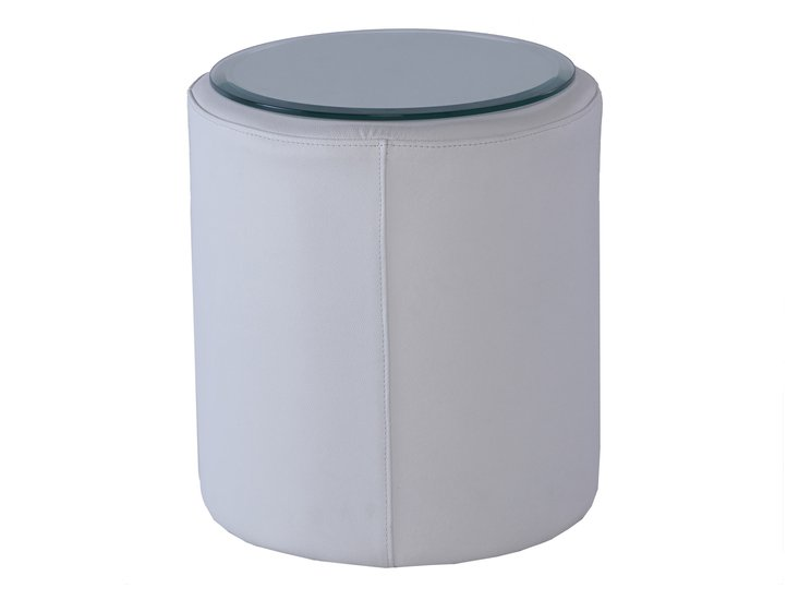 Enzo leather white cylinder side table gillmorespace limited treniq 1 1513323670522