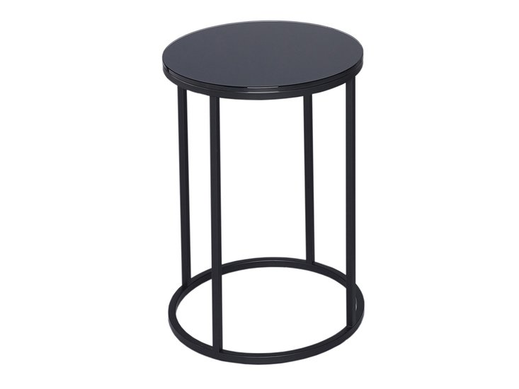 Kensal black with black base circular side table gillmorespace limited treniq 1 1513333812325