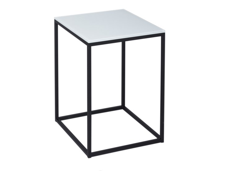 Kensal white with black base square side table gillmorespace limited treniq 1 1513339520481