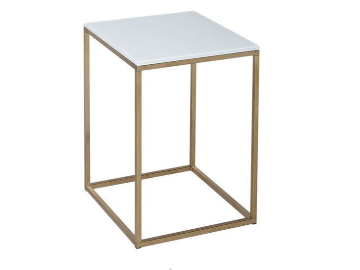 Kensal white with brass base square side table gillmorespace limited treniq 1 1513339890875