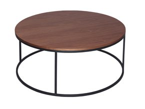 Kensal-Walnut-With-Black-Base-Circular-Coffee-Table_Gillmore-Space-Limited_Treniq_0