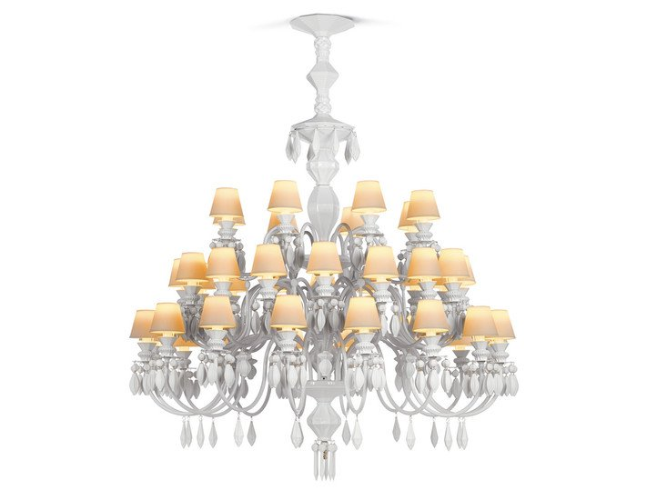 Belle de nuit chandelier 40 lights white lladro treniq 1 1513354823379